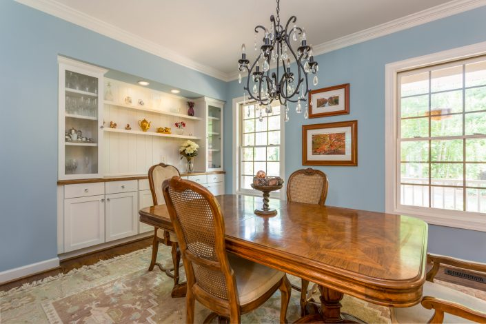 transitional design-build dining room
