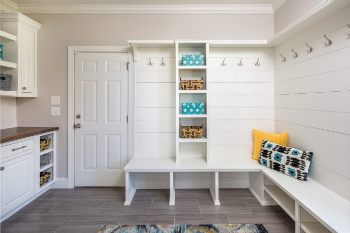 Stylish and functional farm style mudroom