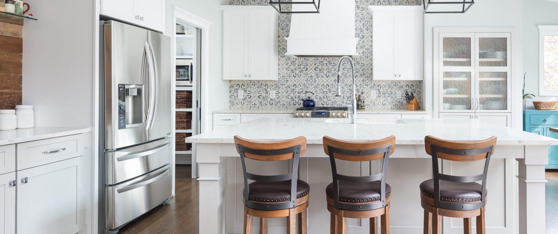 custom, beach inspired, stylish, and functional design-build kitchen